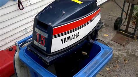 yamaha au 223 enborder 15c testlauf 15 ps hp baujahr 1981 outboard test f 252 hrerschein boot