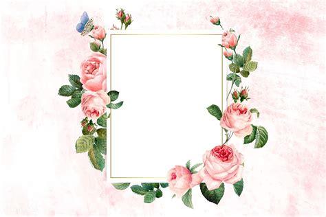Download premium vector of Floral rectangular frame on a ...
