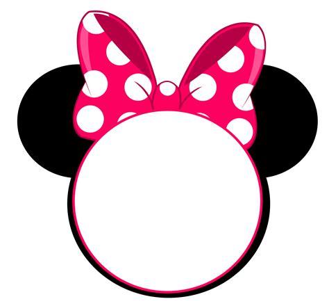 minnie mouse head invitation  printable