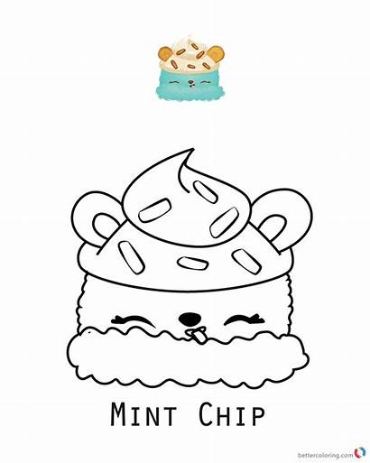 Num Noms Coloring Pages Printable Chip Minty