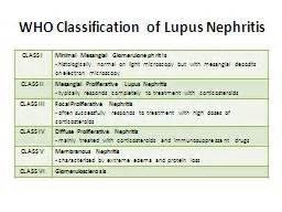 WHO Classification of Lupus Nephritis Lupus Nephritis