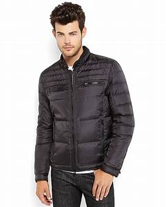Guess Down Puffer Jacket in Black for Men | Lyst