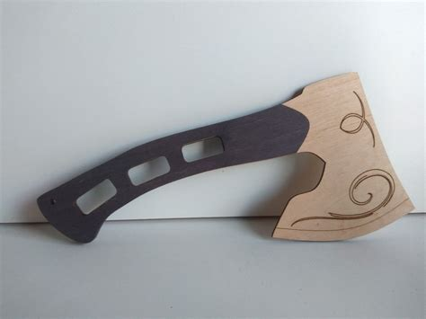 laser cut wooden axe dxf file files cnc