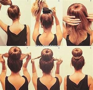 Simple DIY Braided, Bun & Puff Hairstyles Pictorial Tutorial for Girls HairzStyle