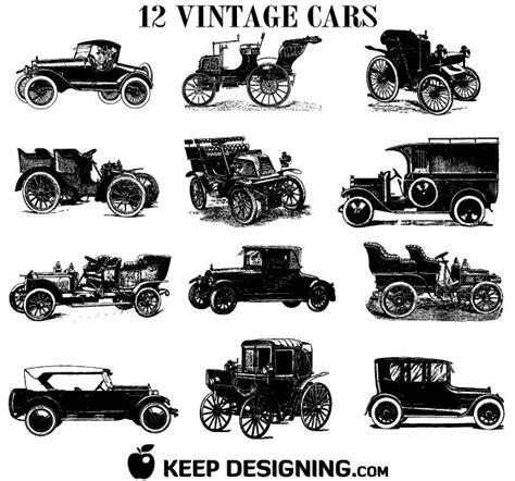 Old Vintage Car Vectors Free