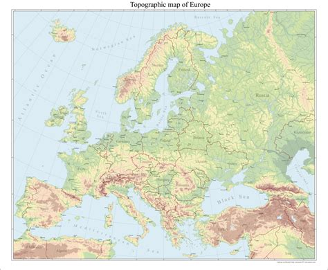 europe topographical map  arminius  deviantart