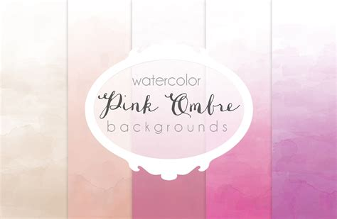 pink ombre watercolor backgrounds textures  creative