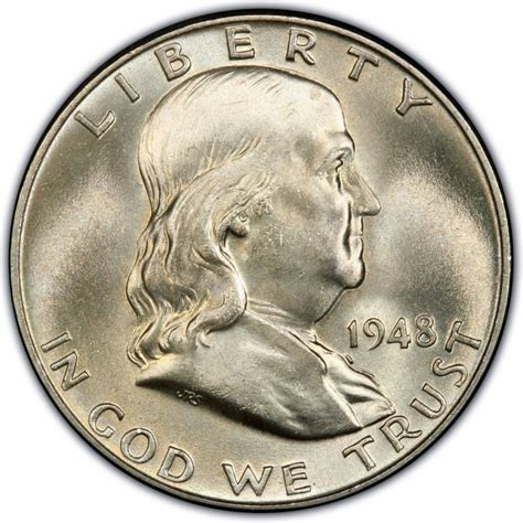 half dollar 1948 franklin half dollar values and prices past sales coinvalues com