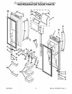 Parts For Whirlpool Wrf989sdam00  Refrigerator Door Parts