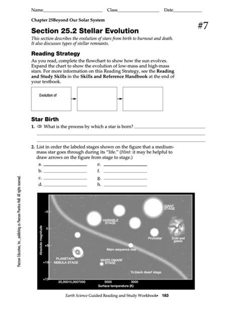 Beyond Our Solar System  Stellar Evolution Worksheet Template Printable Pdf Download