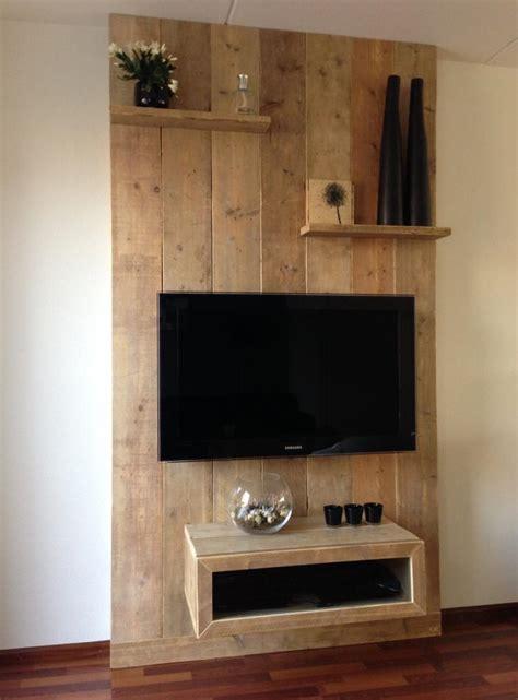 tv wand steigerhout tv wand maken steigerhout aanbouw huis voorbeelden