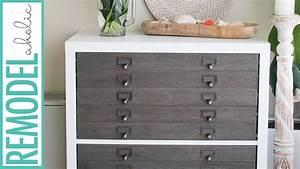 Ikea Hack Kallax Shelf To Flat File Cabinet   Drawers