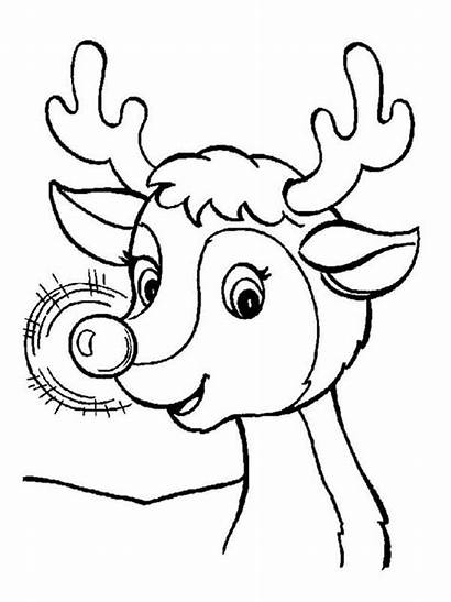 Rudolph Coloring Pages Printable Holiday Bright Choose