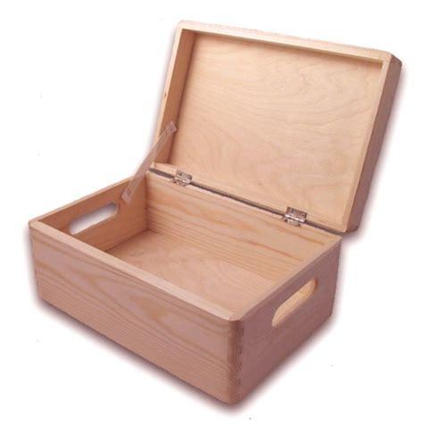 gro 223 e aufbewahrungsbox holzkiste mit deckel und griffl 246 chern kiefer holzartikel holz rohlinge