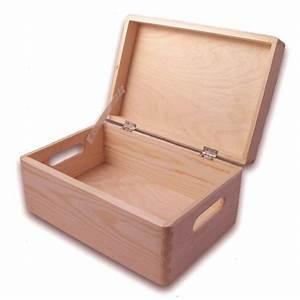 Aufbewahrungsbox Mit Deckel Holz : gro e aufbewahrungsbox holzkiste mit deckel und griffl chern kiefer holzartikel holz rohlinge ~ Bigdaddyawards.com Haus und Dekorationen