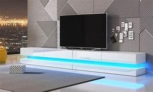 Meuble Tv Suspendu Led : meuble tv suspendu groupon ~ Melissatoandfro.com Idées de Décoration