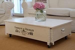 Beistelltisch Weiß Landhaus : li il couchtisch truhe holzkiste vintage shabby chic ~ Watch28wear.com Haus und Dekorationen