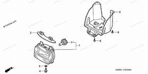Honda Atv 2004 Oem Parts Diagram For Headlight   U0026 39 01