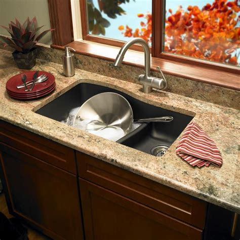 undermount granite composite kitchen sink 1000 images about swanstone kitchens on black 8724