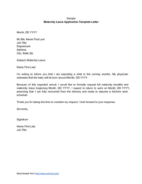 letter requesting maternity leave extension