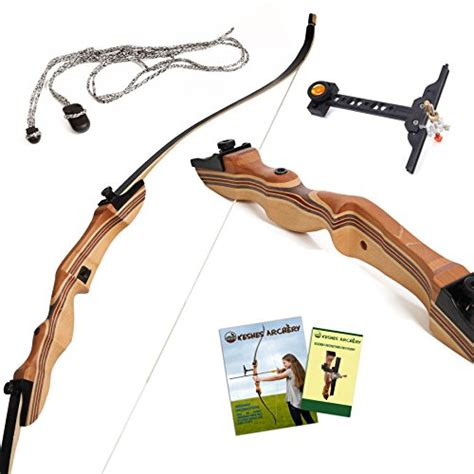 """Takedown Recurve Bow And Arrow  62"""" Recurve Hunting Bow"""