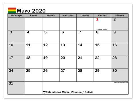 calendario mayo bolivia michel zbinden es