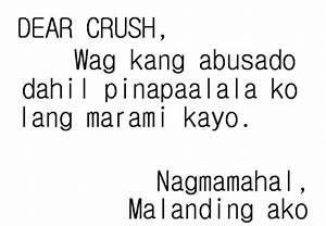 Dear Crush Quotes Tagalog. QuotesGram