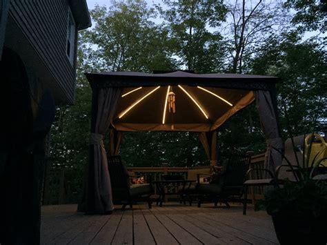 gazebo with led lights garden oasis lighted garden oasis