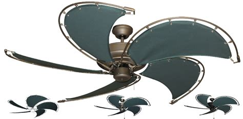 canvas blade ceiling fan 52 inch nautical raindance ceiling fan with spring frame
