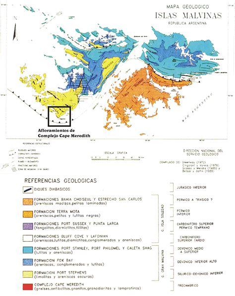 Islas Malvinas 01: Mapa Geológico de las Islas Malvinas