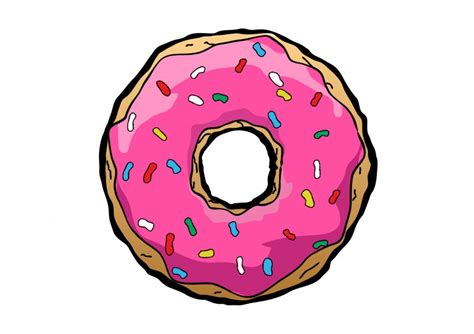 Free Vector Donut Drawing -download Free Vector