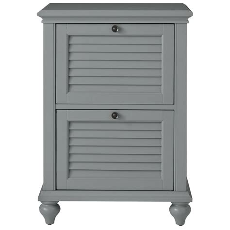 home decorators collection hamilton  drawer grey file