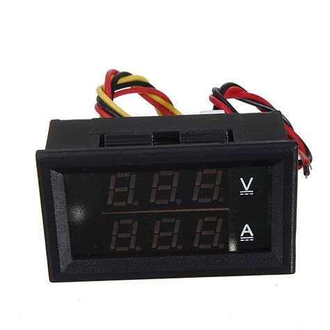 dual display volt voltmeter ammeter 0 28 quot led digital dc 0 100v 50a voltage current