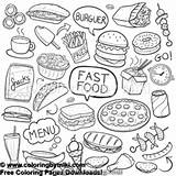 Coloring Menu Fast Meals Quick Miki 無料 Freeprintable Adultcoloring 塗り絵 りえ Lovesmag 大人 Coloringforadults Unbelievable Coloriage Pizza sketch template