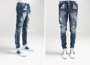 Ripped Denim Skinny Jeans Men