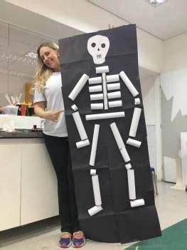 esqueleto rolinhos de papel ideias de