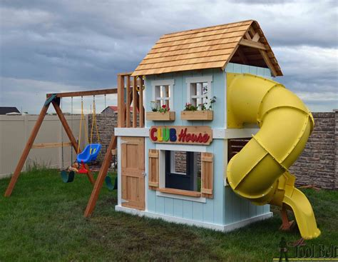 Backyard Clubhouse Plans by Diy Clubhouse Play Set Tool Belt