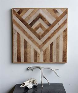 Geometric wood panels to decorate your walls by ariele for Wood wall decor