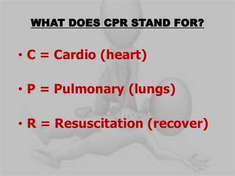 Modified Cpr Definition by Cardio Pulmonary Resuscitation