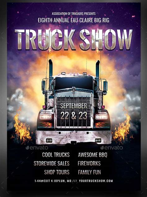 truck flyer templates  psd vector eps png ai