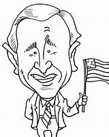 Bush George Coloring Childhood President Today sketch template