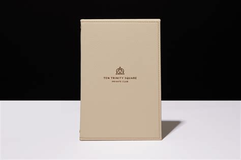 menu cover luxury bespoke wooden leather progress packaging