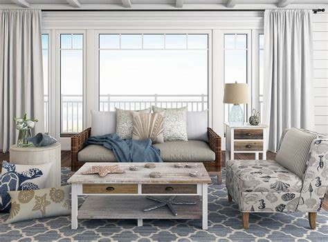 beach themed living room   budget designing idea