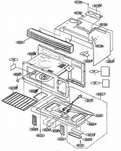 Oven Cavity Diagram  U0026 Parts List For Model 72162642200