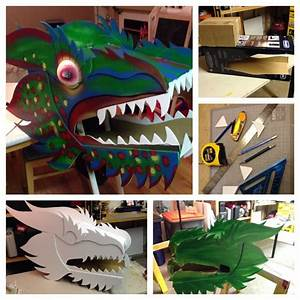 chinese dragon head for my wife39s classroom made by todd With cardboard dragon template