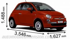 Fiat 500 Longueur : dimensions des voitures fiat longueur x largeur x hauteur ~ Medecine-chirurgie-esthetiques.com Avis de Voitures