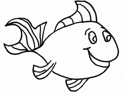 Fish Clipart Coloring Clip Striped Pink