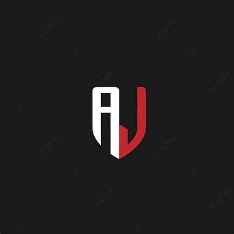 initial letter aj logo design template     pngtree