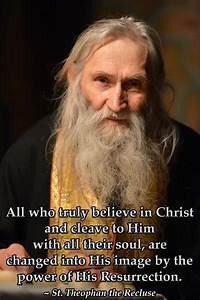 A Catholic Hermit  Catholic Hermit And Recluse St  Theophan