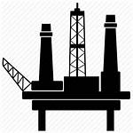 Rig Oil Icon Drilling Icons Offshore Platform